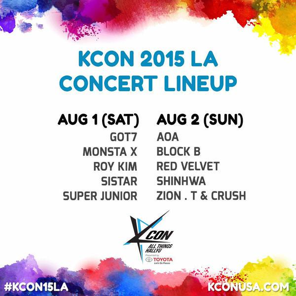 Lineup for @kconusa LA now complete! Red Velvet confirmed! http://t.co/kmipO7hmsg Tix in 18 min!  #KCON15LA http://t.co/ocRn4L7xcm