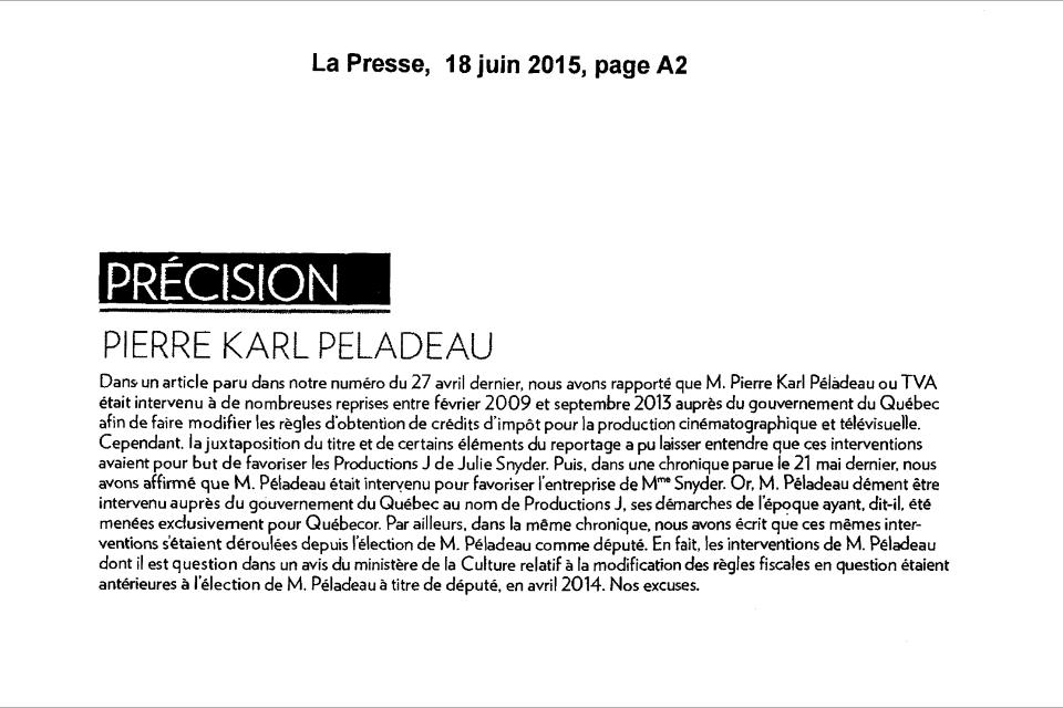 En tout petit, petit, La Presse s'excuse... #Assnat #PolQc http://t.co/dFq7QOroes