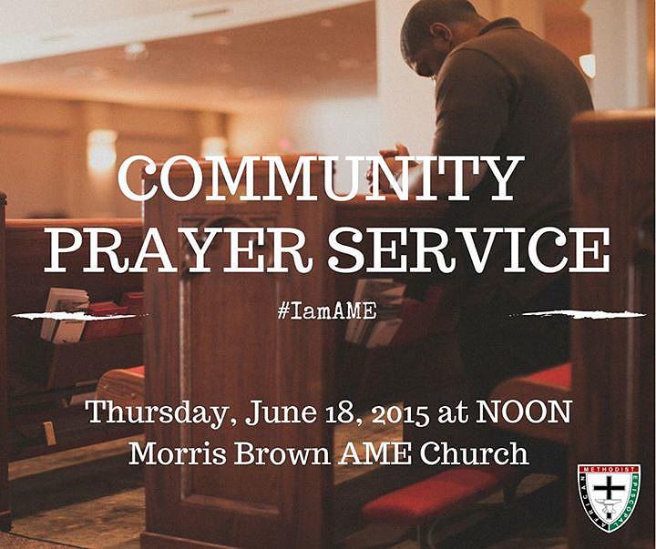 Noon prayer vigil planned after Emanuel AME shooting http://t.co/6fUs0XOE1g #chs #charlestonshooting #iamame http://t.co/W0QigNPMVc