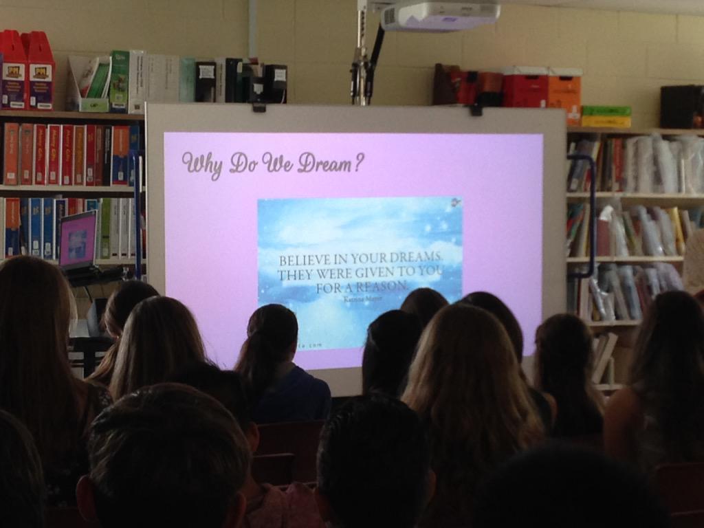 Why do we dream? #sjesplice2015 #ycdsb21c #ycdsbpathways http://t.co/384Xp2P59U