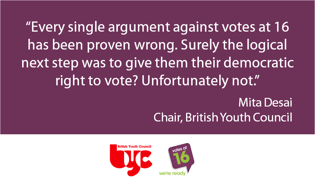 1.5 million 16 and 17 year olds denied a vote in the #EURef. http://t.co/DjAR9QITbB #votesat16 http://t.co/vr20tqItLL