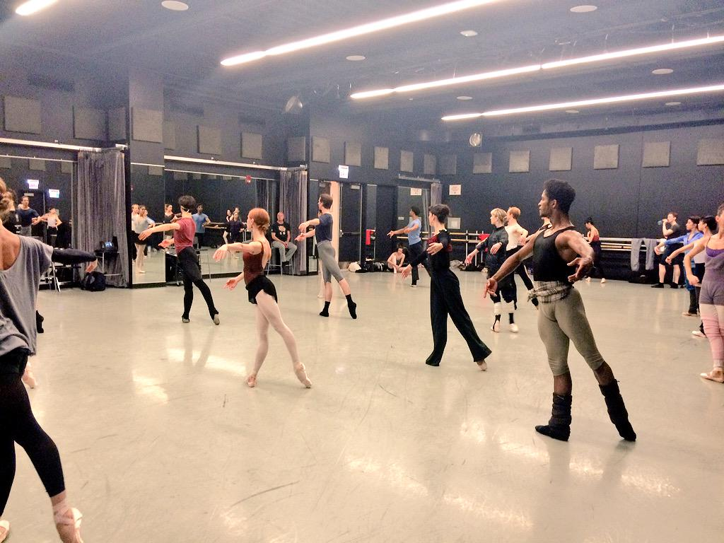 Class time. Need to warm our muscles before stage call of #RBDonQ !!! #RoyalBalletUSA http://t.co/jzib8B1Ugk