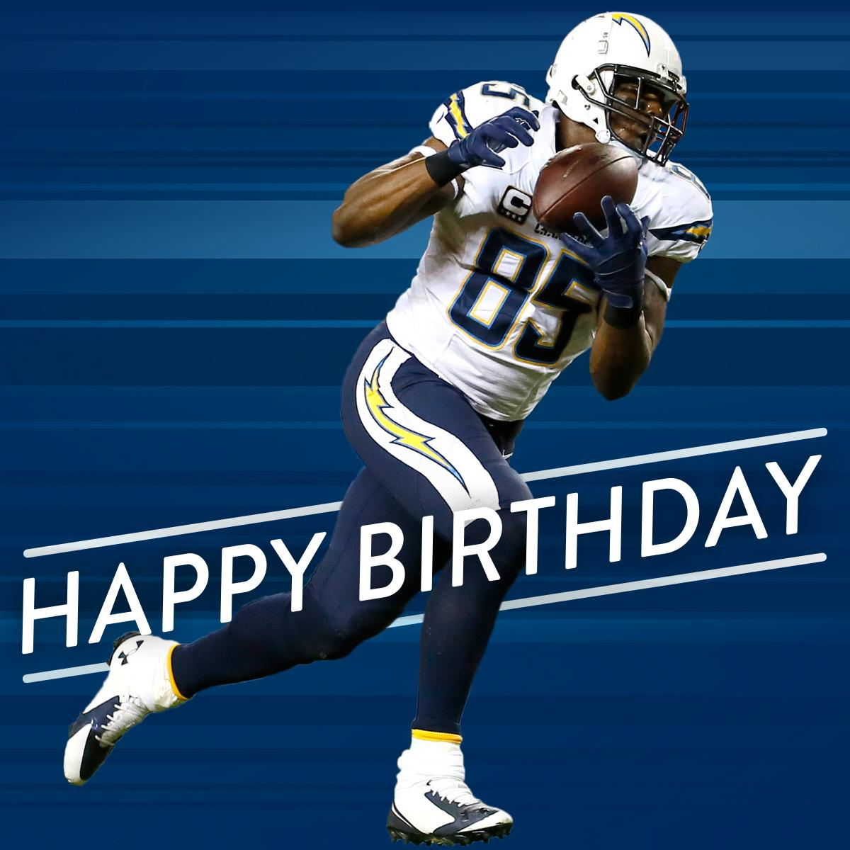 """San Diego Chargers Happy Birthday Pictures: NFL On Twitter: """"Happy 35th Birthday To @Chargers TE"""