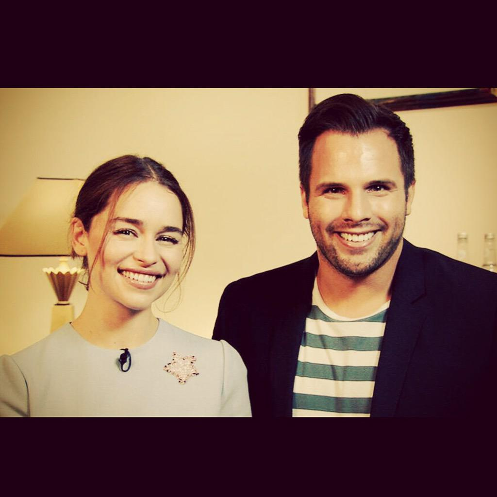 Coming up on Weekenders @ITVLorraine in a few minutes-my exclusive interview with Terminator & GoT star Emilia Clarke http://t.co/9aaDZdYRuy