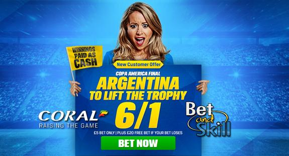 Argentina 6/1 to win
