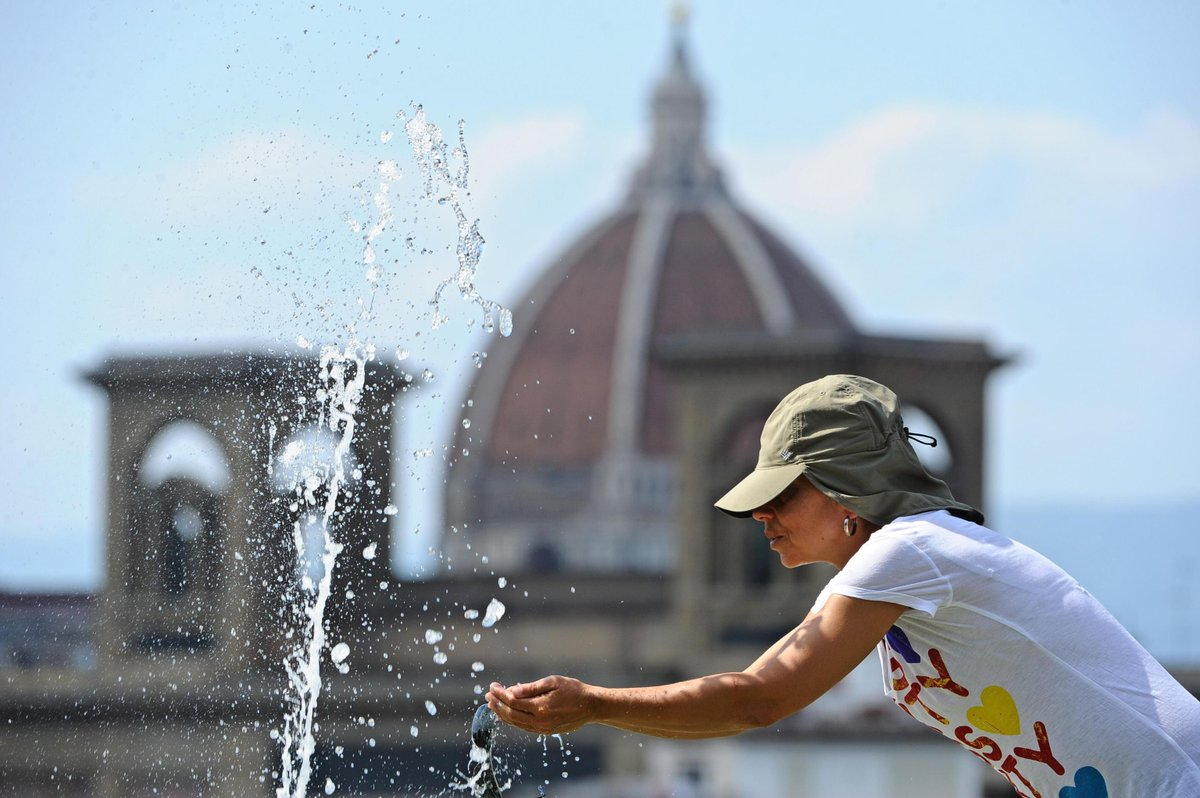 Giornate di #caldo record sull'Italia, e su gran parte d'Europa. L'Afa di Flegetonte ancora per dieci giorni.