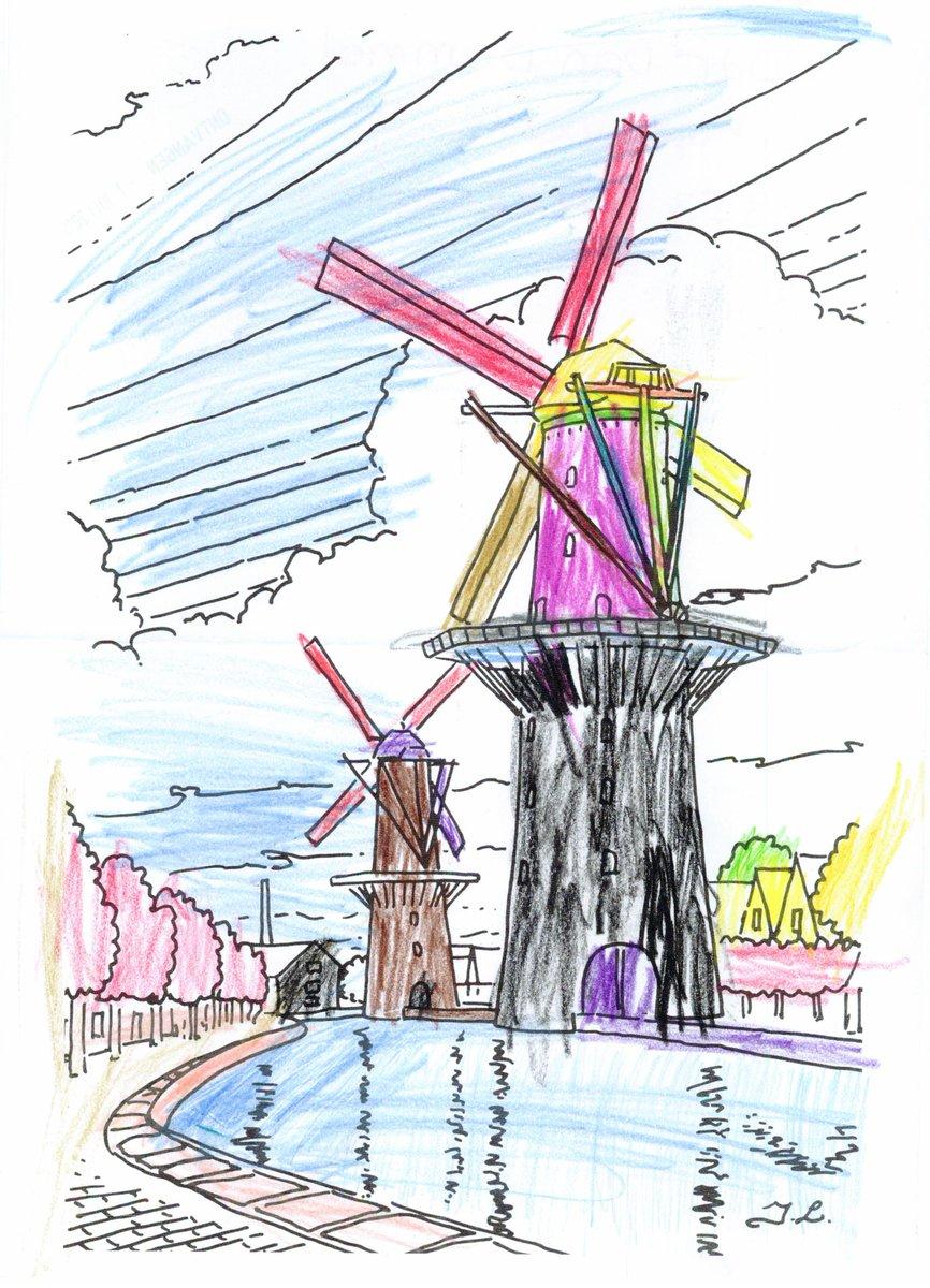 Kleurplaten Watermolen.De Hollandsche Molen On Twitter We Hebben Al Hele Mooie
