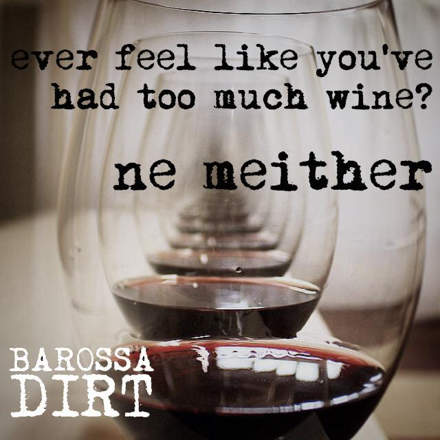 Ever feel like you've had too much #wine? ... #Barossa #winelover #TGIF http://t.co/5mvjkPicZU