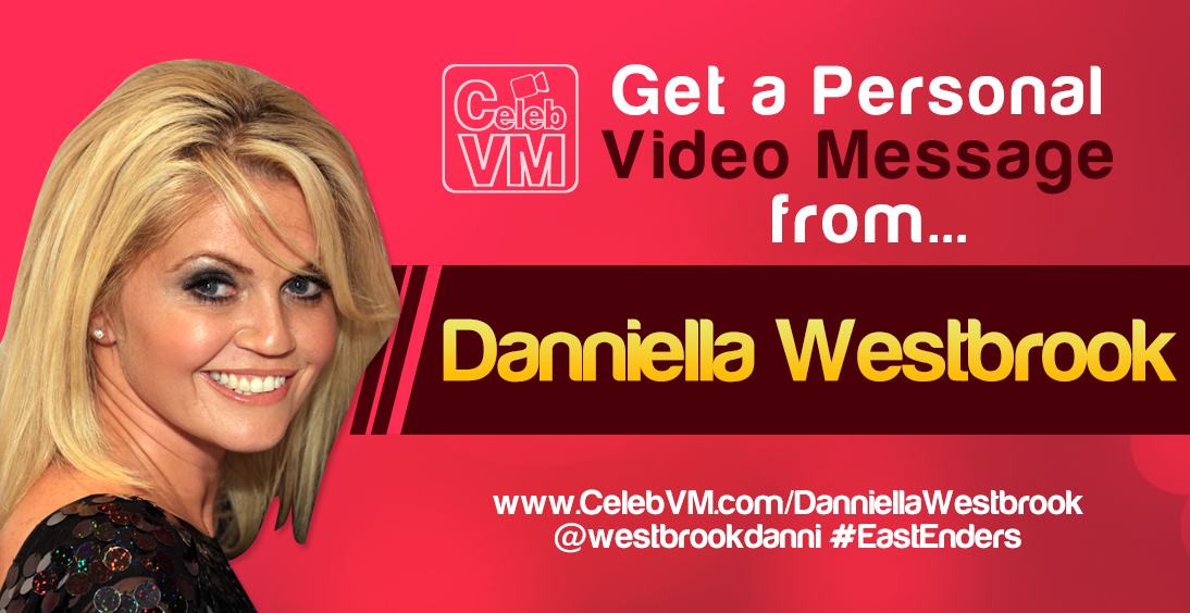 RT @CelebVM: Danniella Westbrook Personal Video Messages http://t.co/XUjQmJwdvW @westbrookdanni #EastEnders http://t.co/1SDZlPmp5o