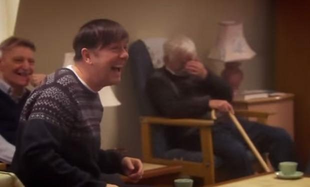 RT @RadioTimes: Have a giggle with Gervais with these #Derek bloopers http://t.co/gaRh5BFIUN @rickygervais http://t.co/2PIlsqQYzg