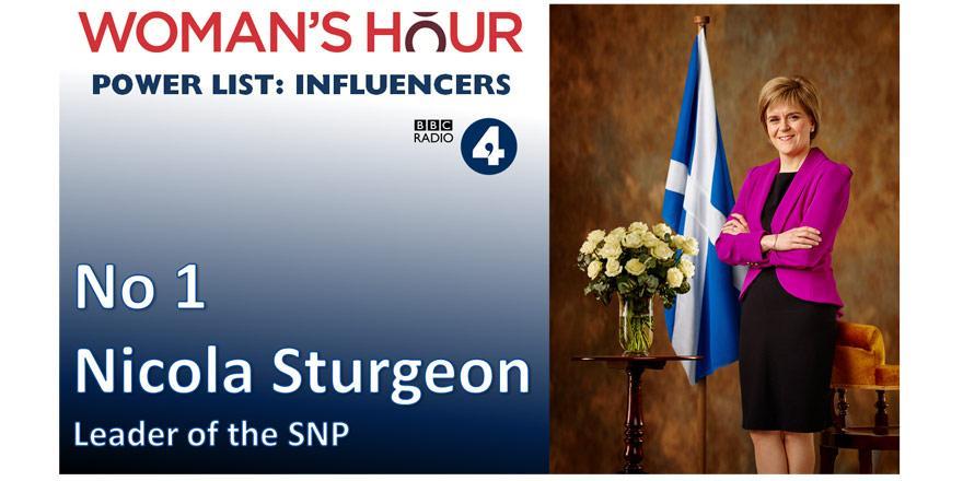 #whpowerlist Influencers – No 1 Nicola Sturgeon, Leader of the SNP @nicolasturgeon http://t.co/lBxH0Go7rr