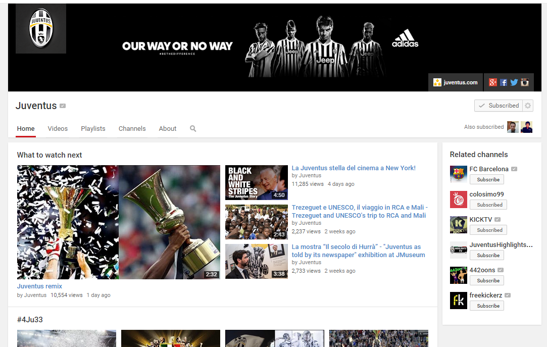 Juventus Sassuolo YouTube