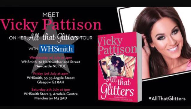 """RT @manarndale: @VickyGShore @WHSmith again today 1-2pm, signing copies of her new novel """"All that Glitters""""! http://t.co/fzI2DKEX1J"""