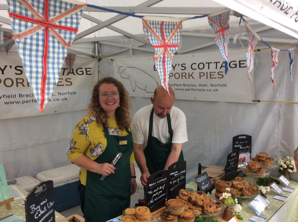 Chilli Pork pies and more from @Brays_Cottage today too @norfolkshow. http://t.co/5qtv6ulIEM