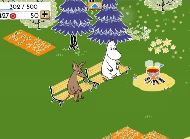 ムーミンのゲーム始めたけどコーヒー豆とライ麦をえんえん植えて収穫してベンチに座らせてなんかそういうゲーム       楽しいデース!! http://t.co/BinrbHzN9t