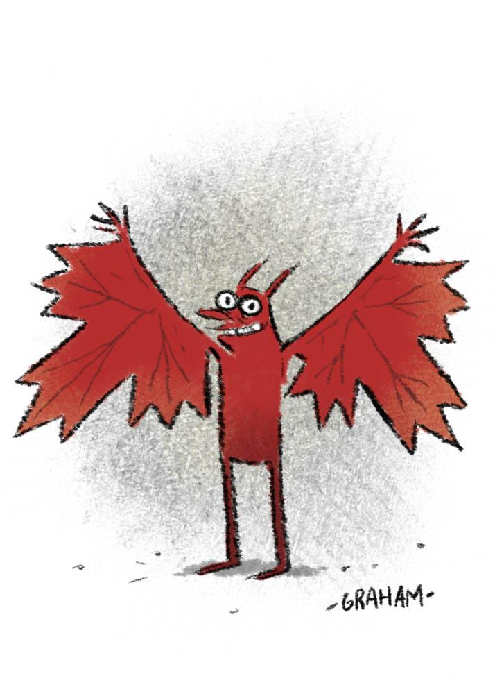 Look! A rare glimpse of one of the reclusive and yet polite Canadian Bat People! #CanadaDay http://t.co/JEilKac3uX