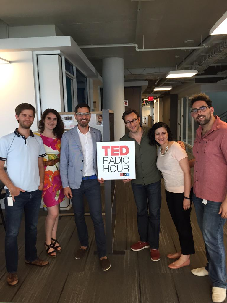 Stopped by @NPR to say hi to @guyraz and the whole team at @TEDRadioHour. Thanks for making me sound smart!