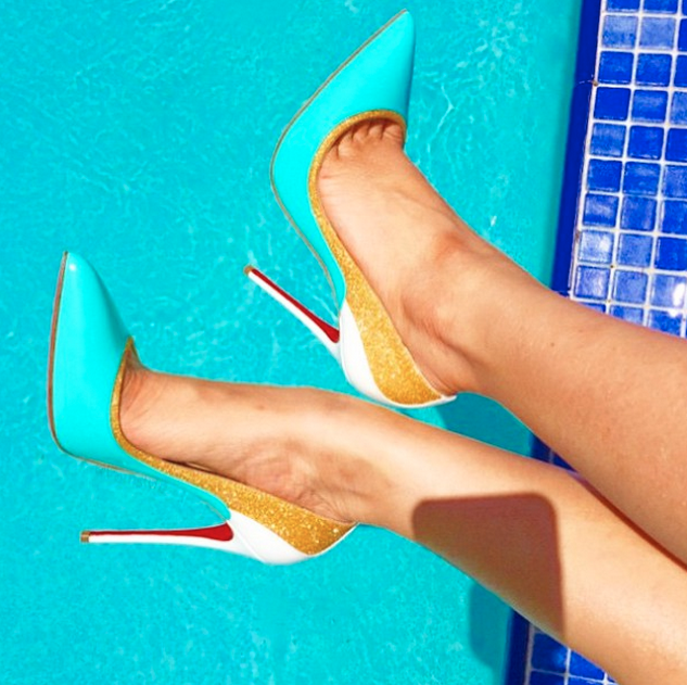 This  #kickupyourheels Wednesday our  @LouboutinWorld pumps are ready to make a splash! http://t.co/M1molF057D