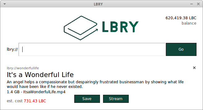 LBRY Screenshot