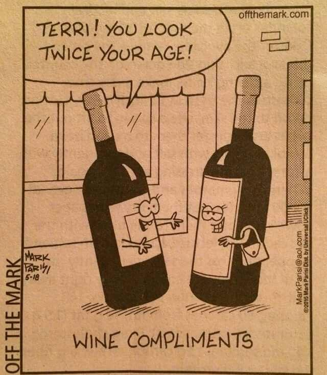 BEST COMPLIMENT froma #WINE to Another: &quot;You look Twice you Age !!&quot; RT @JMiquelWine ... #WineLover LOL!! <br>http://pic.twitter.com/kkWMFjCKpk