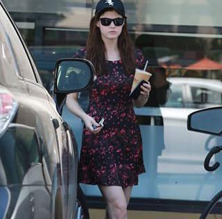 photo of Alexandra Daddario  - car