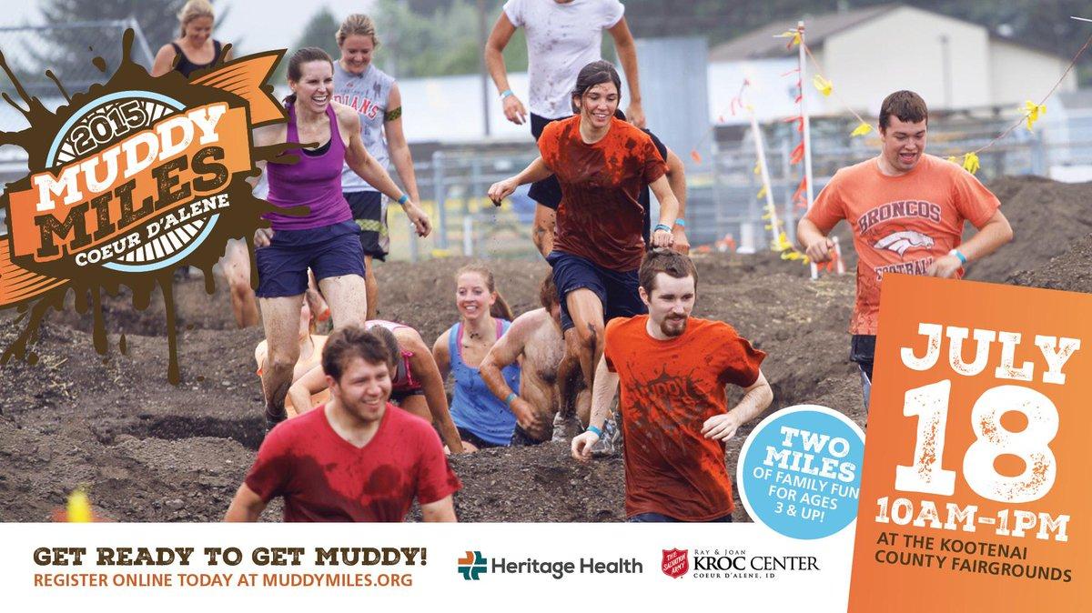 Kroc Center Cda On Twitter Get Ready To Get Muddy Muddy Miles Is
