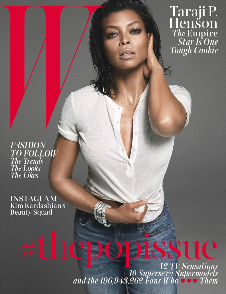 .@EmpireFOX star @therealtaraji covers the August issue of @wmag in our 8334 Adele in Rival. http://t.co/SXZyLnc4Bp