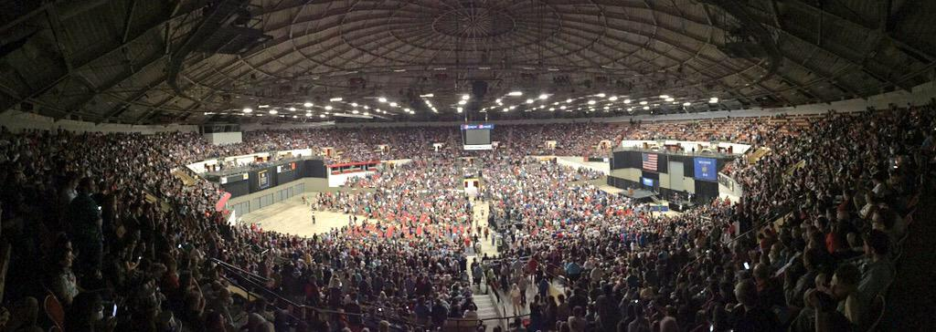 Beautiful. #FeelTheBern RT @danmericaCNN With Bernie Sanders in Madison, the arena is more or less full. http://t.co/tDupKea6xG