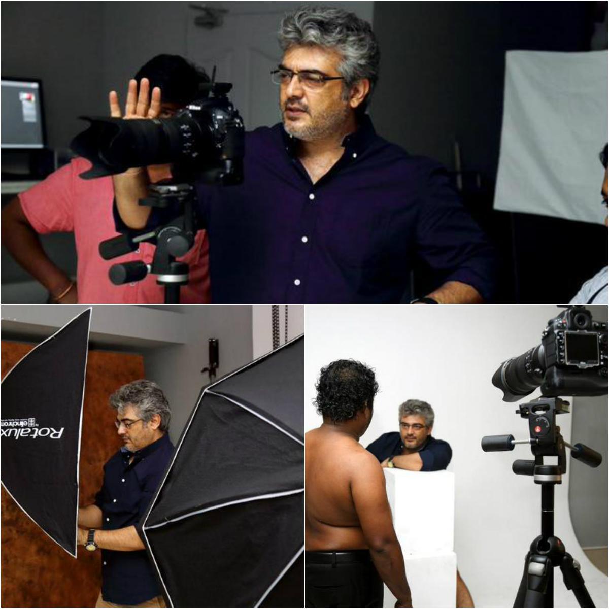 #AjithKumarPhotography அப்புக்குட்டியை போட்டோ ஷூட் எடுத்த அஜித்தின் வொர்க்கிங் ஸ்டில்ஸ்! http://t.co/JyI0e0kBPB http://t.co/r8fMGBgDTW
