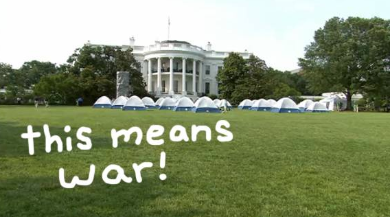 #BarackObama & #MichelleObama were invaded by #GirlScouts for an adorable #WhiteHouse campout! http://t.co/fIRWD8ZfTE http://t.co/piSlr6jHn6
