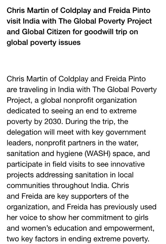 Coldplay charity