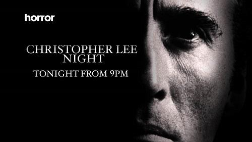 Tonight @horror_channel celebrates the work of a legend. Christopher Lee​ Night starts at 9pm. http://t.co/kipy9B0GRC