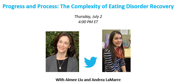 Who is going to be joining us at 4 PM ET for an #AEDchat on the complexity of eating disorder recovery?! http://t.co/xqsqWeo5UP