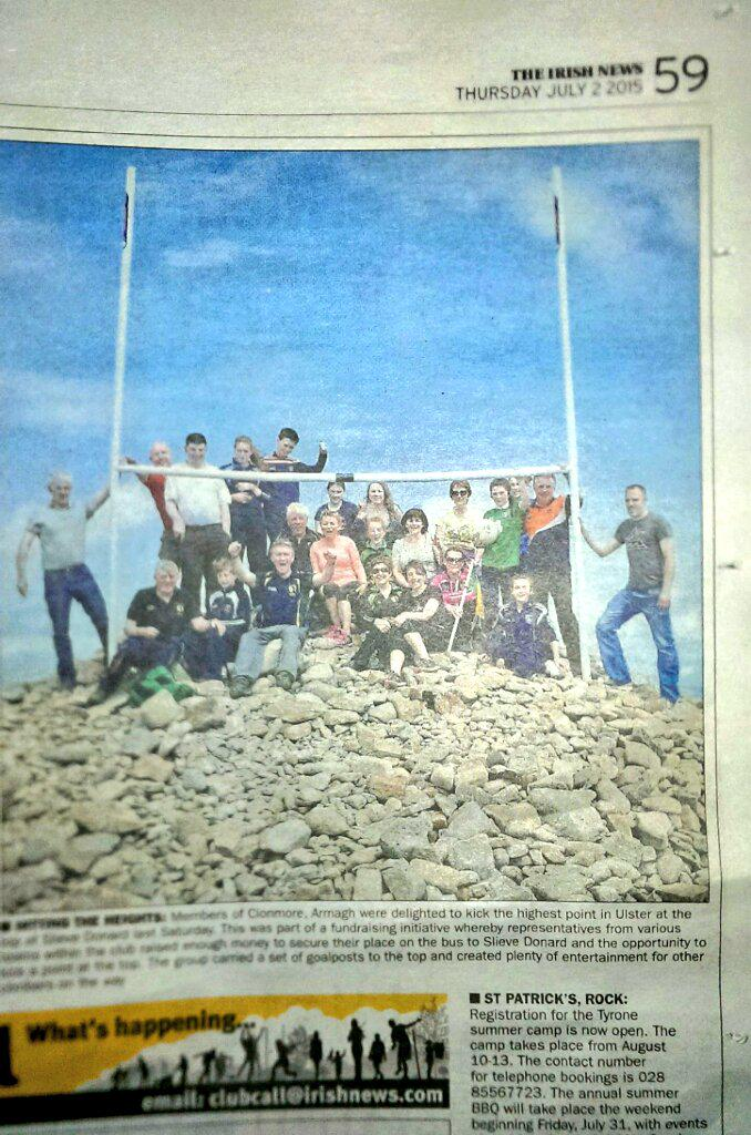 """Clonmore on Twitter: """"The climbers from Clonmore GFC featured in ..."""