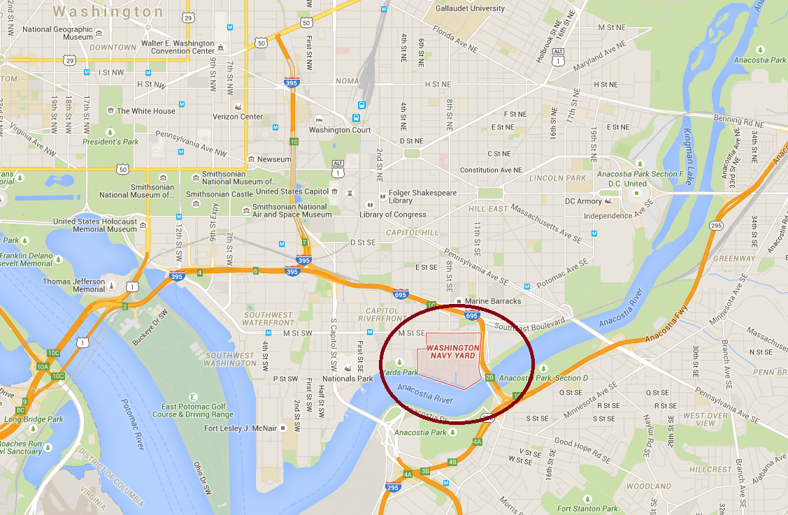 Map Lockdown Shelter In Place Order Given At Navy Yard In