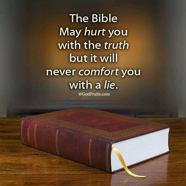 La Biblia puede herirte con la verdad pero nunca te consolará con una mentira. http://t.co/6zZhDxMFuP