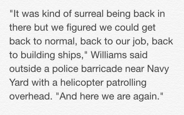 USATODAY: RT NathanBomey: Lt. Commander Scott Williams on rushing to evacuate the same Navy Yard building attacked… http://t.co/gzVPHHdM7G
