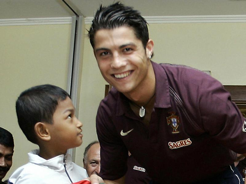 Martunis and his idol Ronaldo