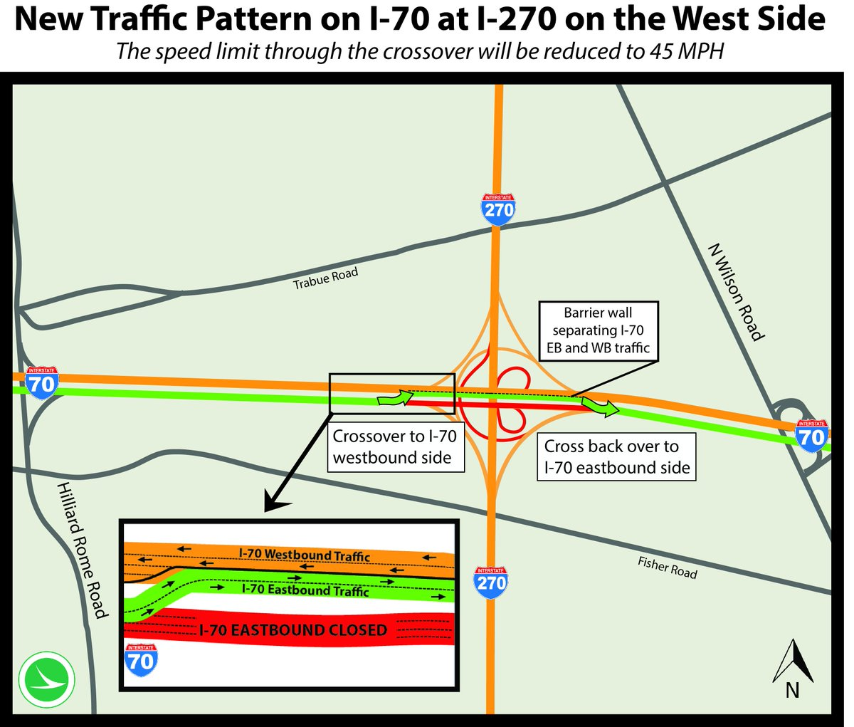 West Side: When I-70 EB opens by noon tomorrow, here's how traffic will be maintained. RT so drivers are ready. http://t.co/kECIVEotr1