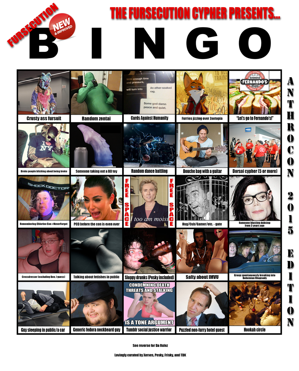 now presenting, an exclusive insider preview of the Anthrocon 2015 edition of FURSECUTION BINGO!! http://t.co/WsHyQ94Fzs