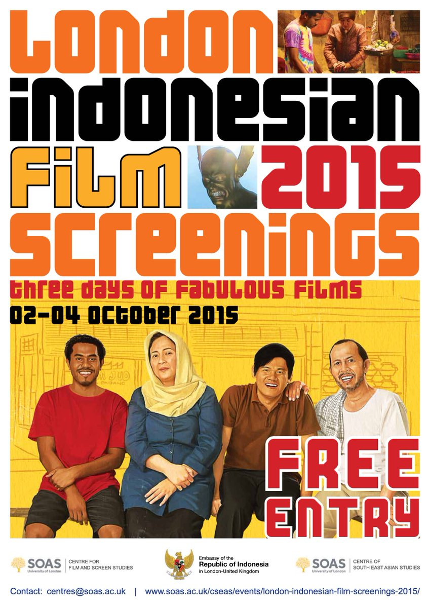 the official poster of London Indonesian Film Screenings 2015. 2-4 October, free of charge :) http://t.co/1HnszU5AAq