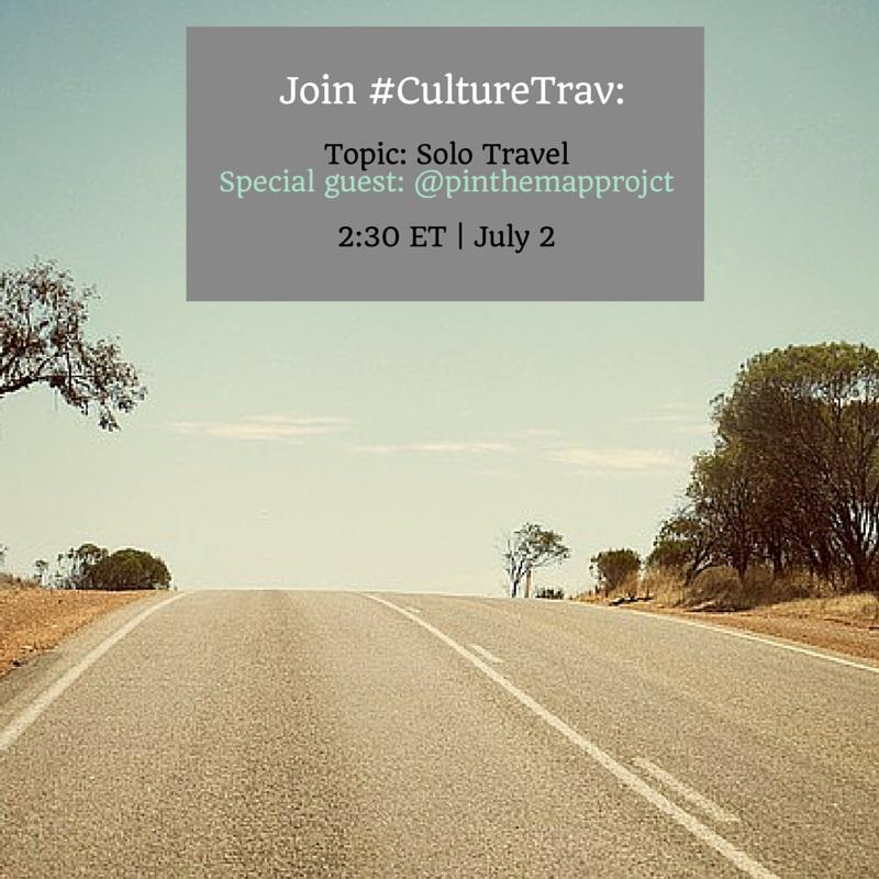 New to #CultureTrav? Read & prep via http://t.co/v0ywlWjQCA. Join us for a chat on #solo #travel in 30 minutes! http://t.co/lPlmzUnyPQ