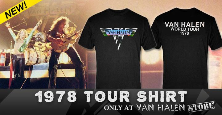 0e24425111a What to wear when you love Van Halen  This 1978 tour tee. Sizes up to 3X   http   www.vhnd.com 2015 07 01 exclusive-van-halen-1978-world-tour-shirt  …