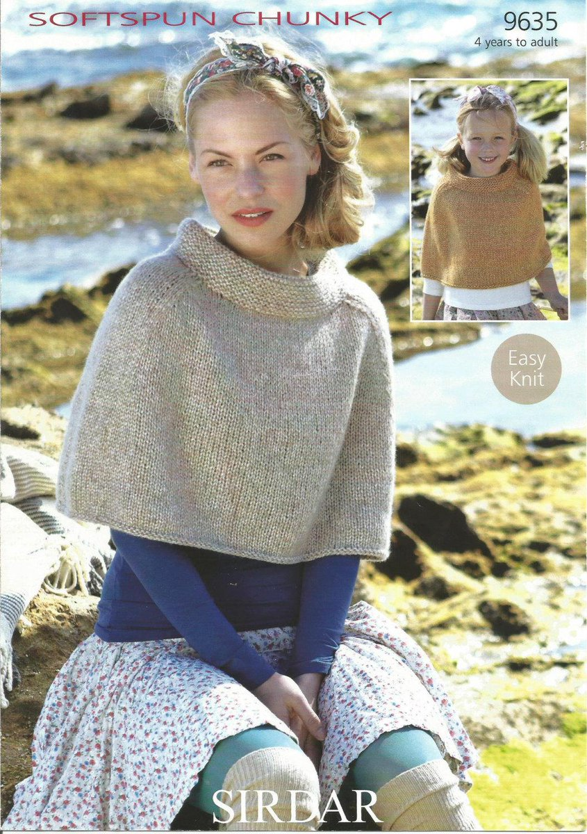 Terence Hillary On Twitter Vintage Sirdar Softspun Chunky Poncho