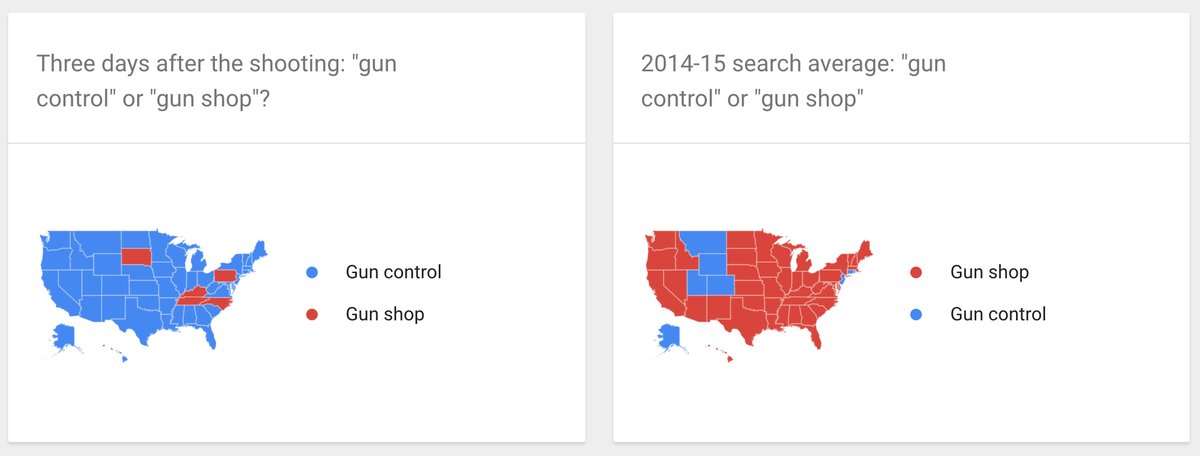 Revealing Map Shows What Happened With 'Gun Control' and 'Gun Shop' Google Searches Three Days After Charleston Shooting