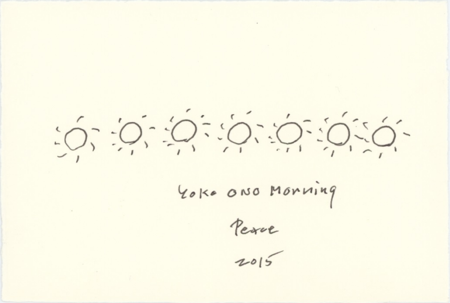 Today we welcome the #firstdayofsummer @MomaPopRally @yokoono MORNING PEACE #YokoOnoPeace http://t.co/xk0covSloh http://t.co/PKRlBsqKe2