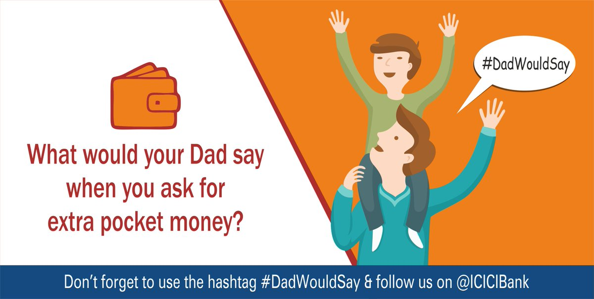 Icici Bank On Twitter Heres Q Of The Dadwouldsay Contest Share Your Quirky Funny Answers Win A Special Gift For Your Dad T Co Qsyphveb