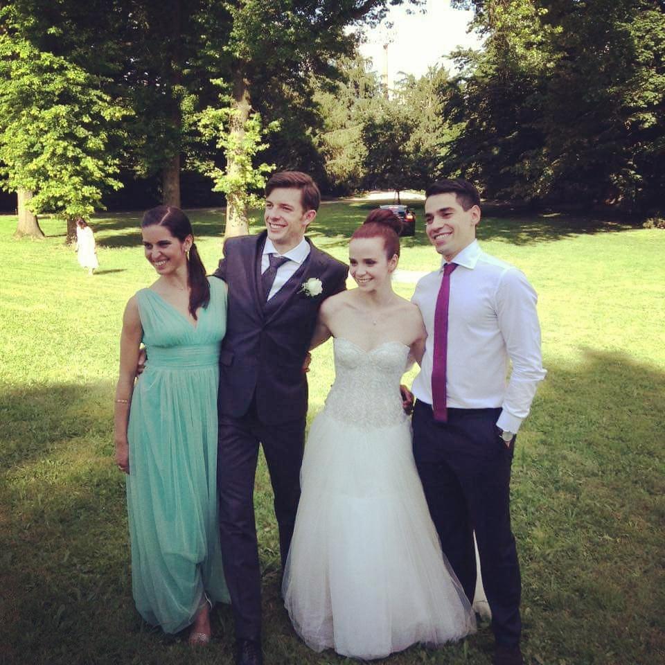 Svadba Cappelliniovej a Hotareka (na obrázku aj Valentina Marchei a Luca Lanotte)