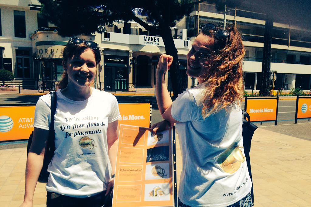Two bold #creative women with a fun, clever idea: http://www.lionarses.com #CannesLions