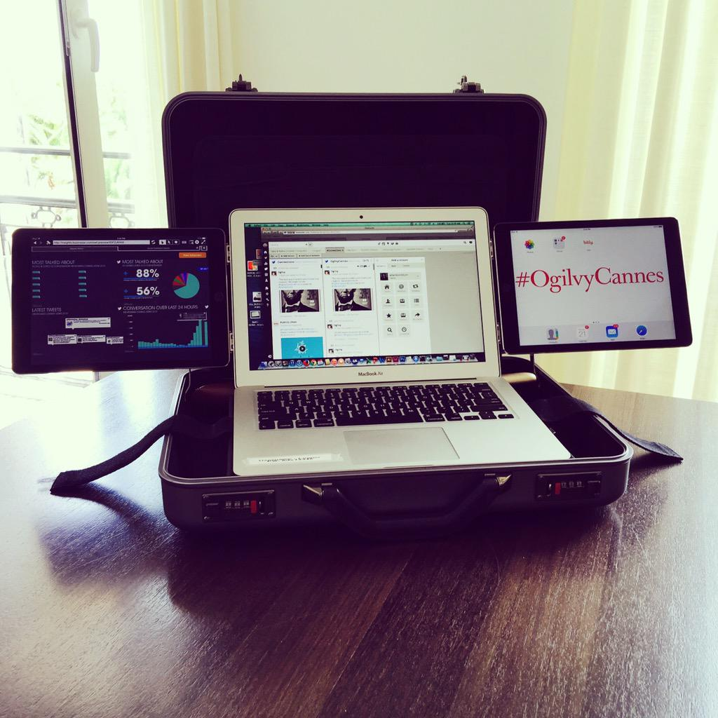 Who says social newsrooms can't be mobile? Not us. #OgilvyCannes #CannesLions http://t.co/cI78bplQcd